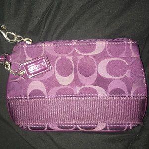 Purple Coach Wristlet/Wallet